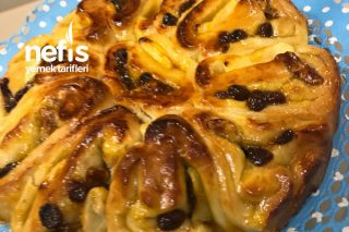 Nefis Rus Çöreği (Kayısı Marmelatlı, Cevizli, Kuru Üzümlü) Tarifi