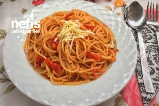 Köz Biberli Domatesli Spagetti Tarifi