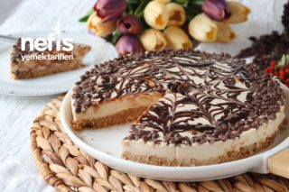 Çok Pratik Pişmeyen Latte Cheesecake (Videolu) Tarifi