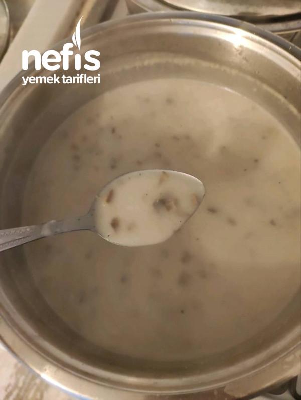 Sütlü Mantar Çorbası