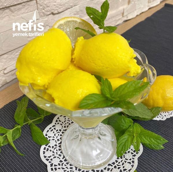 Ev Yapımı Limonlu Dondurma