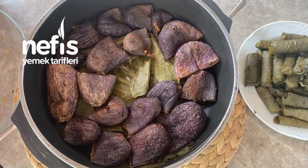 Kuru Patlıcan Dolması-ekşili Kuru Dolma(etsiz)