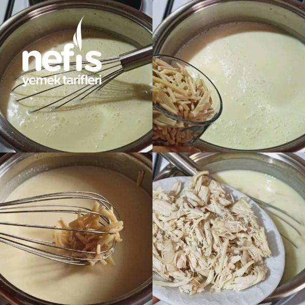 Erişteli Tavuklu Yoğurt Çorbası (Herkes Kesilmeden Terbiyeli Çorba Yapabilecek)