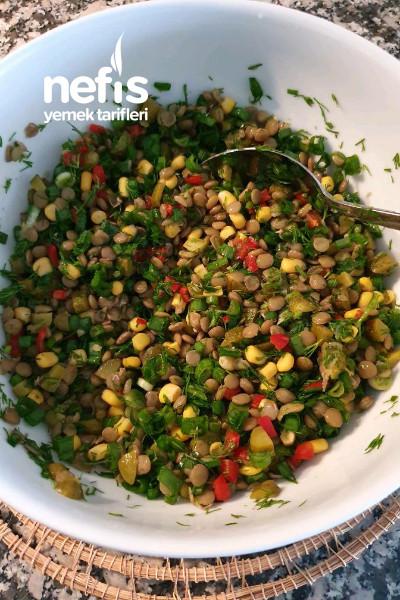 Proteın Deposu Yesıl Mercımek Salatası