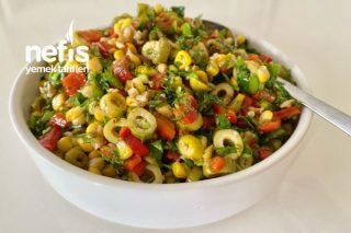 Yeşil Zeytin Salatası (Videolu) Tarifi