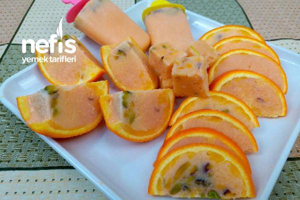 Hint Dondurması Kulfi (Portakallı Sütlü Dondurma)