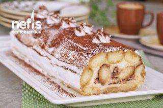 Kek Pişirmeden Fırınsız Rulo Pasta Tarifi (videolu)