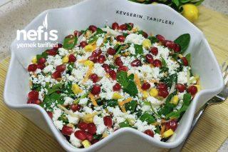 Yeni Favoriniz Olacak Peynirli Ispanak Salatası (Ispanağı Birde Böyle Deneyin) Tarifi