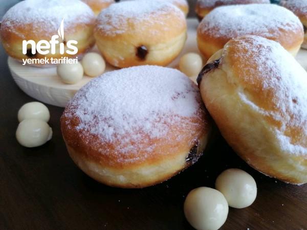 Evdeki Malzemelerle Yumuşacık Berliner(alman Çöreği)(VİDEOLU) Tarifi