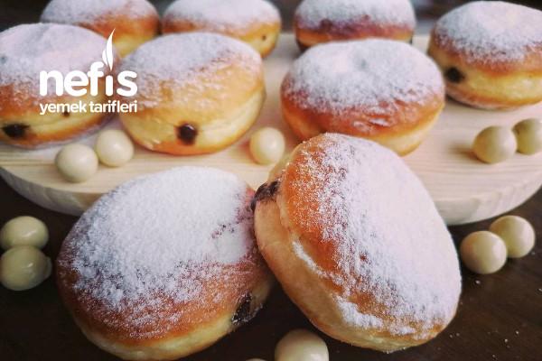 Evdeki Malzemelerle Yumuşacık Berliner (Alman Çöreği) Videolu