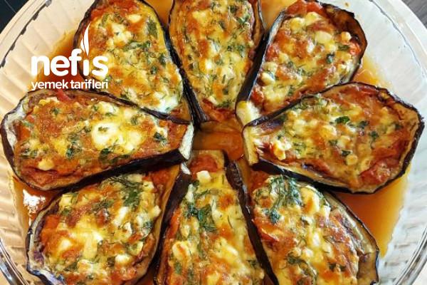 Fırında Peynirli Patlıcan