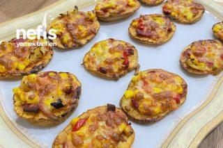 Hamursuz Patatesli Pizza Dilimleri Tarifi