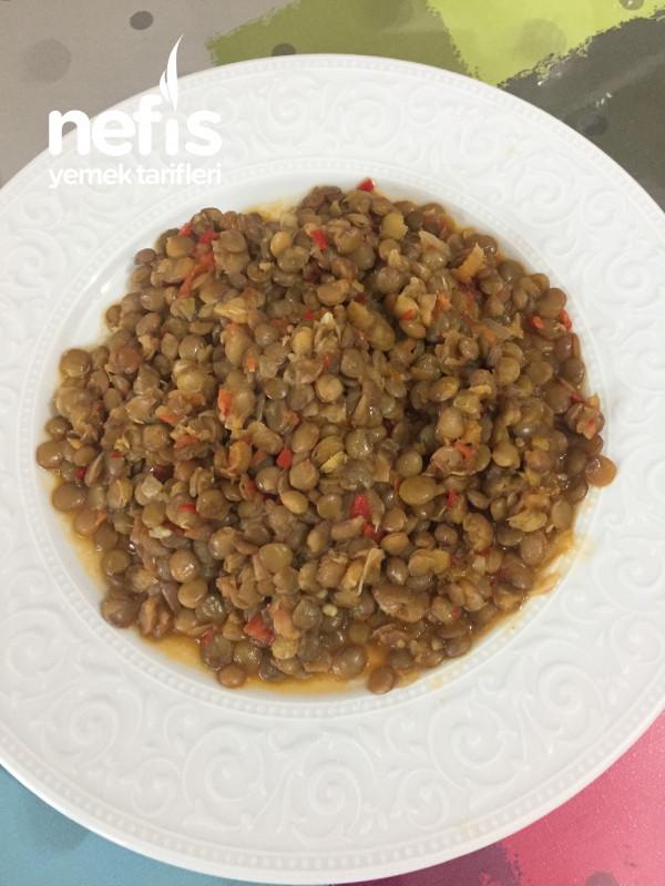 Yeşil Mercimek Yemeği (sağlıklı alkali diyet)