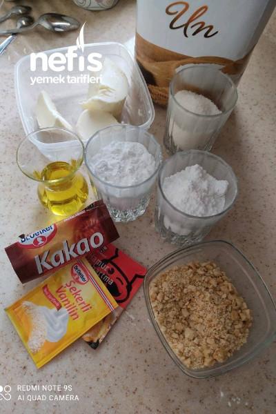 kakao'lu Fındık Parçacıklı Kurabiye Tarifi