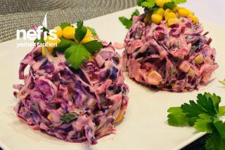 Mor Lahana Salatası (Lüks Ve Doyamacağınız Bir Lezzet) Tarifi