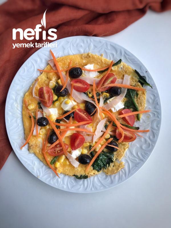 Kahvaltılık Omlet Pizza