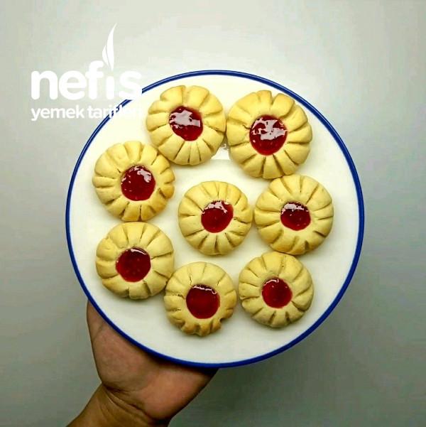 Şahane Marmelatlı Çiçek Kurabiye