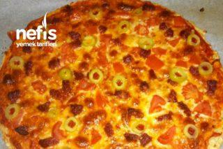 Diyet Pizza (En Fit Yulaflı Pizza) Tarifi