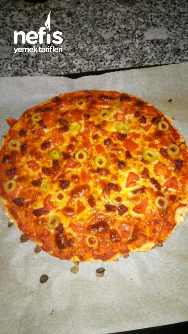 Diyet Pizza (En Fit Yulaflı Pizza)