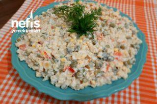 5 Dakikada Yoğurtlu Makarna Salatası (Videolu) Tarifi