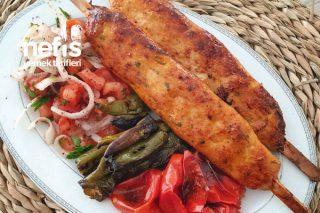 Fırında Çöp Şişte Tavuk Kıyma Kebabı (Videolu) Tarifi