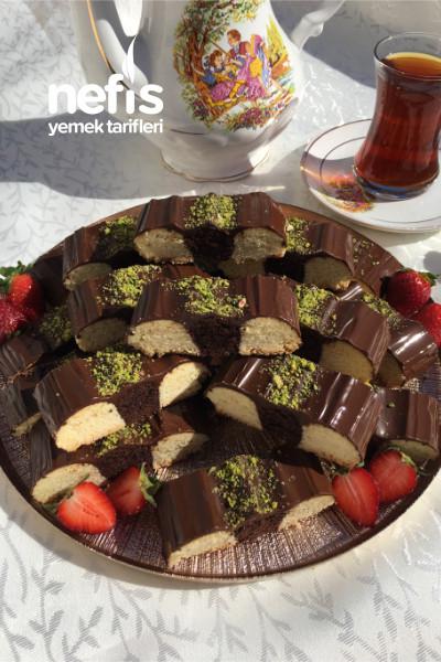 Çikolatalı Şerit Kurabiye