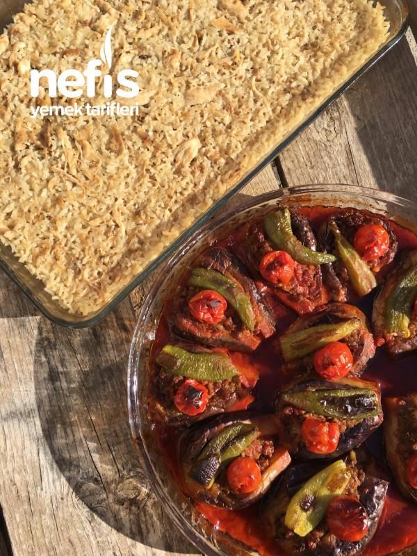 Fırında Soğanlı Tavuklu Pilav