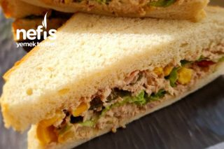 Nefis Ton Balıklı Sandviç (Çocuklar Bayılıyor) Tarifi