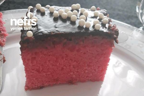 Kalp Pasta İçi Pembe Gıda Boyasız