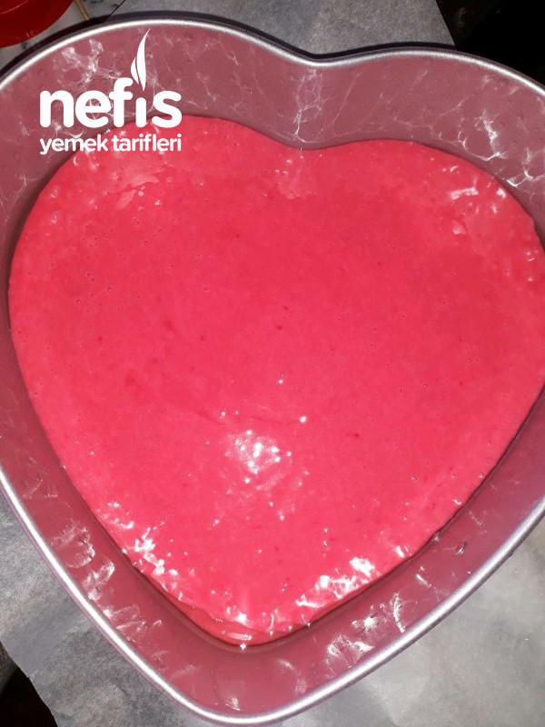 Kalp Pasta İçi Pembe Gıda Boyasiz