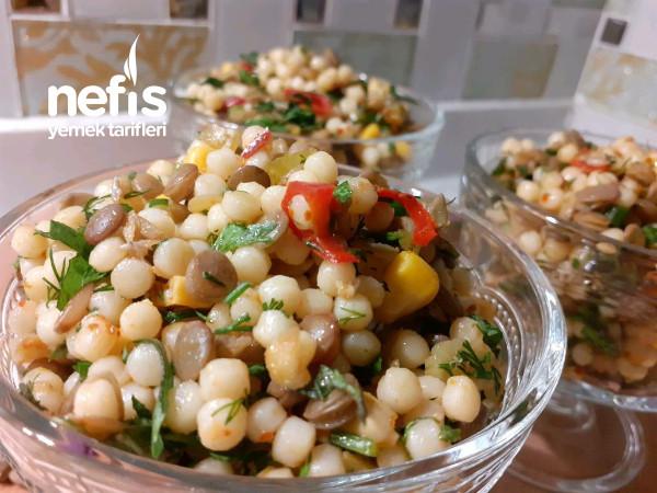 Yeşil Mercimekli Kuskus Salatası