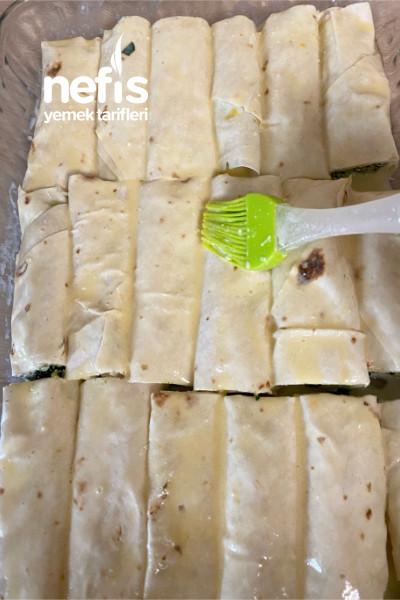 Ispanaklı Rulo Börek(hazır Yufkadan)