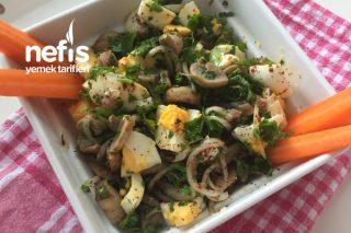 Kahvaltıya Mantarlı Yumurta Salatası Tarifi