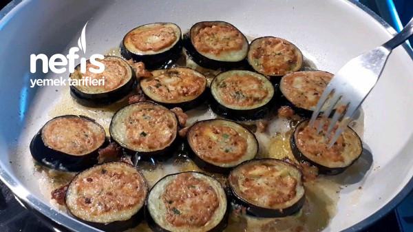 Pizza Tadında Patlıcan Halkaları