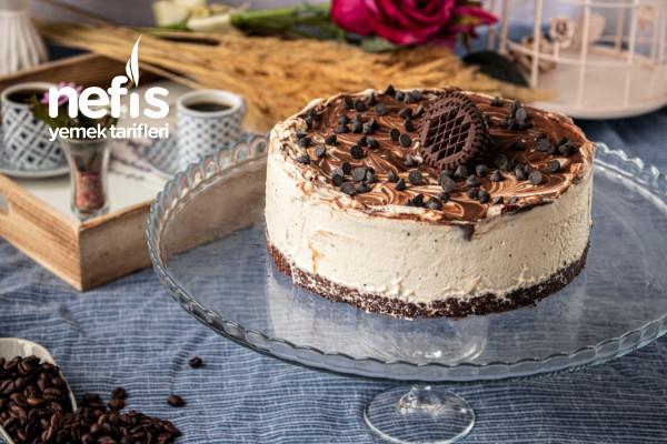 Negrolu Pişmeyen Filtre Kahveli Cheesecake (Videolu)
