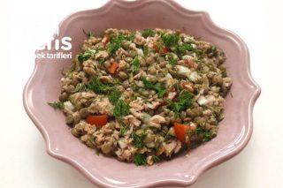 Ton Balıklı Yeşil Mercimek Salatası Tarifi