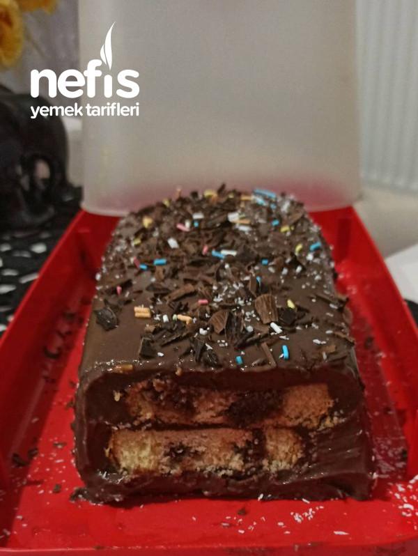 Kek dilimli Pudingli pasta,çok beğeneceksiniz