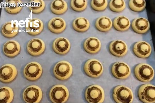 Margarinsiz Sıvı Yağlı Mantar Kurabiye Tarifi (Videolu)