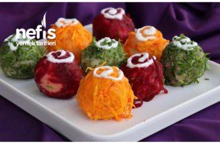 Rengarenk Garnitürlü Patates Topları Tarifi