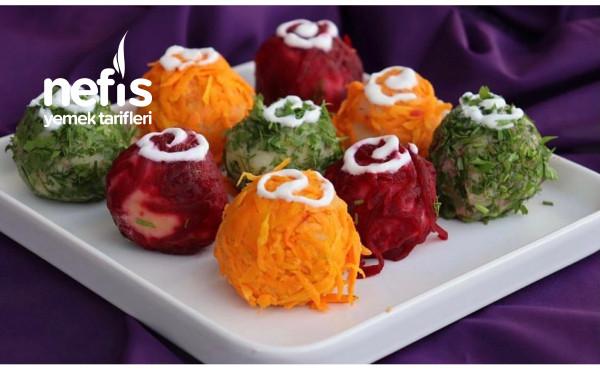 Rengarenk Garnitürlü Patates Topları