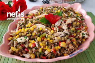 Tavuklu Maş Fasulyesi Gün Salatası Tarifi