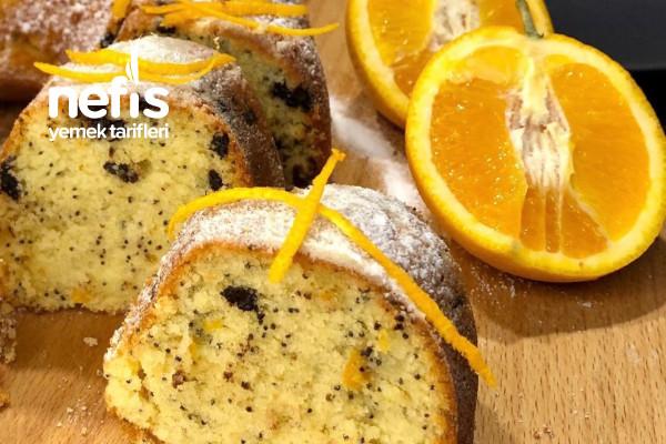 Portakallı Haş Haşlı Kek