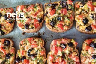 Kahvaltılık Pizza Tadında Ekmek Dilimleri Tarifi