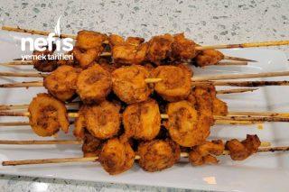 Fırında Karides Şekilli Tavuk Şiş (Videolu) Tarifi