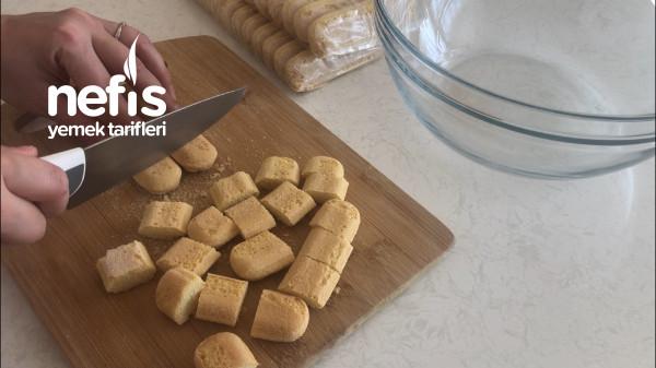 İftar Sonrası İçin 5 Dakika Pastası! (Kedidili Bisküvili Mozaik Pasta)