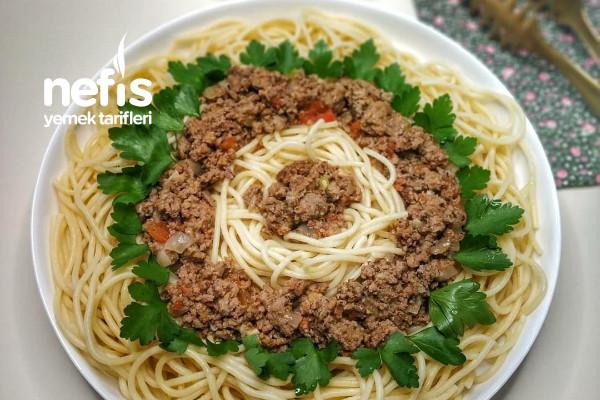 Kıyma Soslu Spagetti