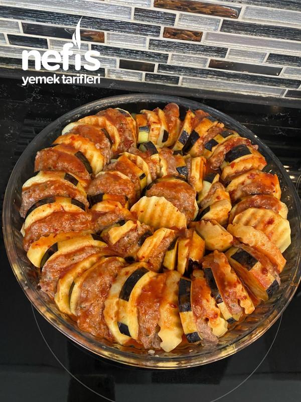 Patlıcanlı Patatesli Köfte Fırında
