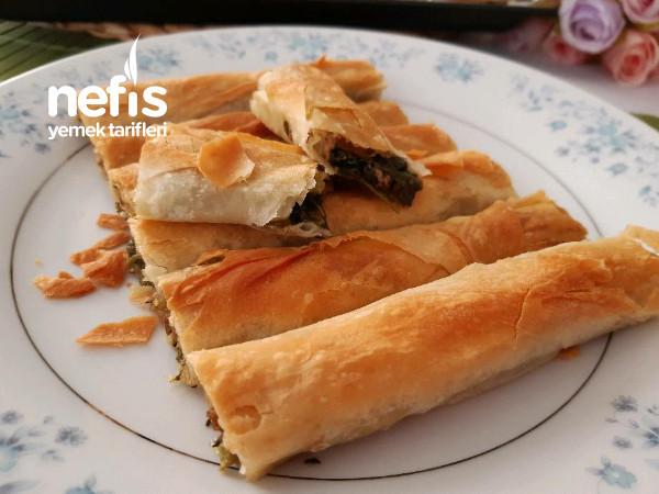 Ispanaklı Kıymalı Çıtır Kol Böreği