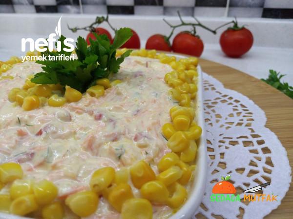 Közlenmiş Kırmızı Biber Ve Kabak Havuç Taratorlu Muhteşem Meze(Salata)