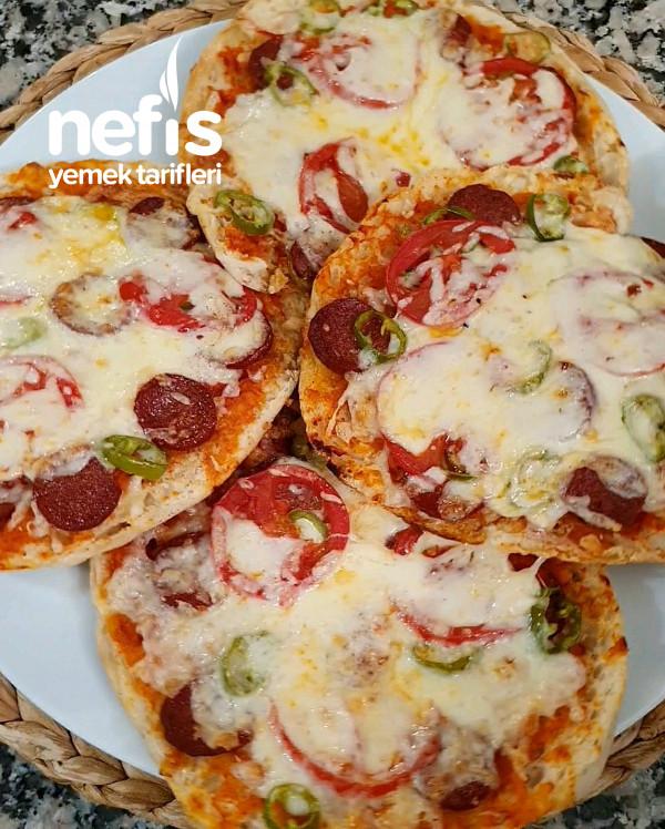 Sadece 10 Dakıkada Bazlamadan Pizza